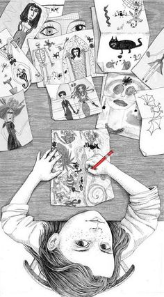 My Childhood by Sveta Dorosheva -- A selection of illustrations for a new book. The book is about kids, and illustrations are scenes from my childhood. Art And Illustration, Illustrations And Posters, Creative Illustration, Inspiration Art, Art Inspo, Art Graphique, Art Design, My Childhood, Painting & Drawing