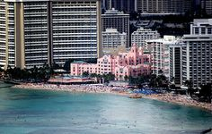 Pink Hotel (The Royal Hawaiian)- Oahu, Hawaii. We stayed there in 1988 and in 2013.