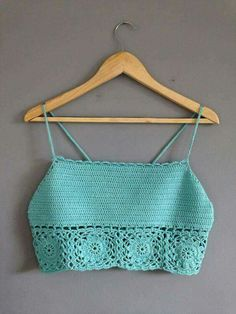 Crochet Swimwear Crochet crop top by AshleighLJackson on Etsy Bikinis Crochet, Crochet Bikini Top, Crochet Blouse, Crochet Woman, Love Crochet, Crochet Baby, Knit Crochet, Top Pattern, Crochet Clothes