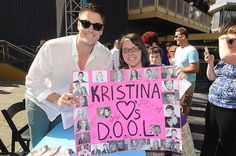 James Scott hanging out with fans at the #DAYS fan event!