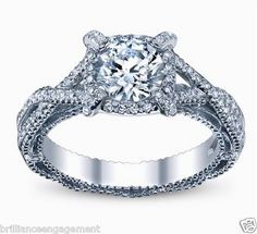 SEMI MOUNT UNIQUE HALO TWIST SHANK BEADED CUSTOM MADE ENGAGEMENT RING HD VIDEO