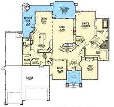 Plan 9535RW: Dream Home Plan with RV Garage | Rv garage, Rv and ...