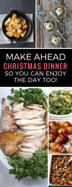 Make Ahead Christmas Dinner: Fill Your Freezer with Festive Food Ahead of Time - Thanksgiving - Christmas Dinner Sides, Traditional Christmas Dinner, Easy Christmas Dinner, Holiday Dinner, Christmas Recipes, Christmas Meals, Christmas Dinner Ideas Family, Christmas Entertaining, Christmas Traditions