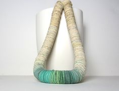 Statement Necklace SHADES of emerald and mint by PaperStatement, €100.00