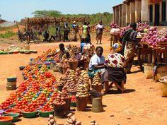 Malawi Roadside Vegtable Sellers by Allan Rickmann, via Flickr