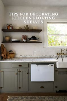 How to decorate your kitchen floating shelves with thoughtful decor. Learn how to mix & match your pieces so that they create beautiful floating shelves to look at.