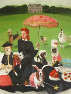 Miss Moon Was A Dog Governess.  Lesson Eight  par janethillstudio, $26.00