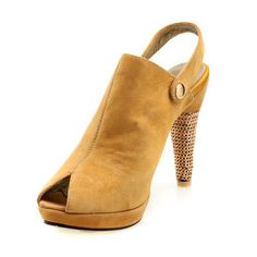 """$59.99-$125.00 Women's Suede Upper Cone Heel Slippers With Buckle Party/ Evening Shoes (Size: 7 B(M) US/Khaki) - Detail Info: - Category: Women's Shoes - Shoes Style: Slippers, Pumps, Peep Toe, Platform, Casual - Upper Materials: Suede - Lining Materials: Real Leather - Embellishment: Buckle - Heel Type: Cone Heel - Heel Height: 3""""-3 3/4"""" - Available Width: Average - Occasion: Wedding, Party & Eve ..."""