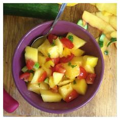 Mango Mint Salad with Cucumber, Cherry Tomato, Mango & Mint // TAylett: Food Photos ~Salad