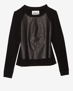 Aiko EXCLUSIVE Front Leather Panel Sweatshirt