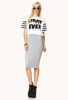 Tight Midi Pencil Skirt