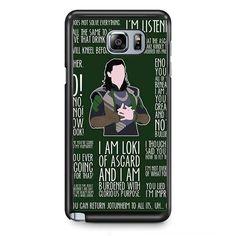 Loki Quotes TATUM-6627 Samsung Phonecase Cover Samsung Galaxy Note 2 Note 3 Note 4 Note 5 Note Edge - Galaxy Note 2 / Rubber / White