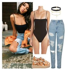 """Madison beer inspired outfit"" by candyapplequeen ❤ liked on Polyvore featuring Topshop and Puma"