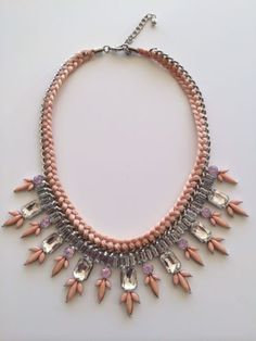 LLD Jewellery Spring Pastel Pink Nude Stone Collar Necklace Celeb Blogger