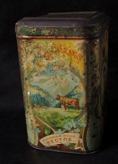 Avant 1917 Boite Nestlé Russie ! Kohler Czar Tsar Chocolat Tôle Lithographiée