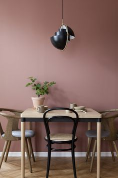 LADY 2856 WARM BLUSH You are in the right place about warm home decor rustic Here we offer you the m Best Dining Room Colors, Warm Dining Room, Pink Dining Rooms, Room Wall Colors, Dining Room Walls, Living Room Colors, Dining Room Design, Wall Colours, Decor Room