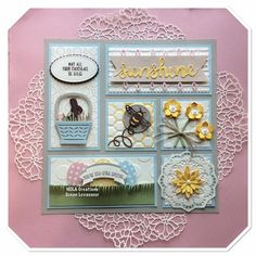 Spring is in the air! Scrapbooking Layouts, Scrapbook Cards, Box Frame Art, Diy Shadow Box, Stamping Up, Craft Fairs, Easter Crafts, Homemade Cards, Stampin Up Cards