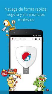 Adblock Browser para Android: miniatura de captura de pantalla