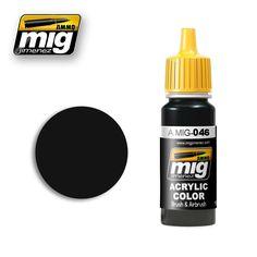 Pintura negra mate acrílica con una formula optimizada para obtener el máximo rendimiento tanto con pincel como con aerógrafo