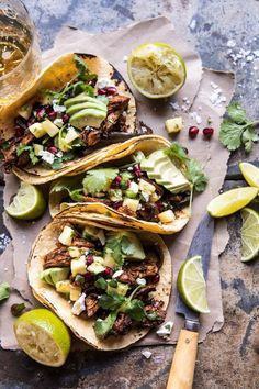 Instant Pot Spicy Pineapple Chicken Tacos from Half Baked Harvest Breakfast Low Carb, Breakfast Recipes, Mexican Food Recipes, Dinner Recipes, Pineapple Chicken, Pineapple Salsa, Best Instant Pot Recipe, Comida Latina, Half Baked Harvest