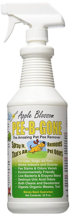 Pet Pee Be Gone Apple Blossom Spray, 32 oz. >> For more information, visit now : Dog supplies for health
