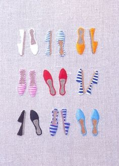 embroidered shoes Pinned by www.LKnits.com
