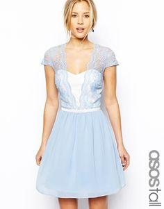 Enlarge ASOS TALL Scalloped Edge Skater Dress -- very cute bridesmaid dress