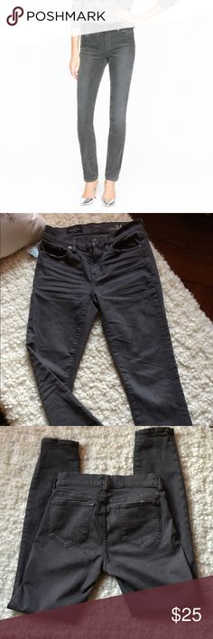 JCREW charcoal toothpick jeans Size 24 charcoal toothpick skinnies. Excellent condition, worn once. Ends are frayed, part of design from JCREW to get the perfect worn look. Make an offer! J. Crew Jeans Skinny