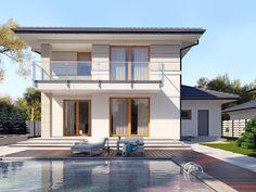 mediterranean homes exterior modern House Layout Plans, Duplex House Plans, Small House Plans, House Layouts, Modern Family House, Modern House Design, Mediterranean Homes Exterior, Storey Homes, Tuscan House