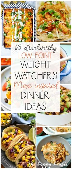 15 Droolworthy Mexi-Inspired Low Point Weight Watcher Dinner Ideas – The Happy Housie