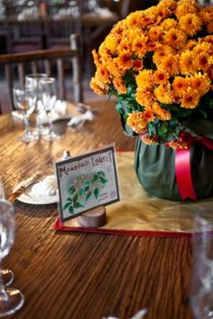 Fall Mum Centerpieces www.unitedwithlove.com