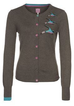 joules duck cardigan with elbow patches.