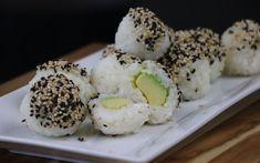 Sushi Balls [Vegan] You don't need a bamboo rolling mat to make these avocado sushi balls — all you need is your hands!You don't need a bamboo rolling mat to make these avocado sushi balls — all you need is your hands! Vegan Snacks, Vegan Dinners, Healthy Snacks, Vegan Potluck, Sushi Recipes, Whole Food Recipes, Vegan Vegetarian, Vegetarian Recipes, Vegan Food