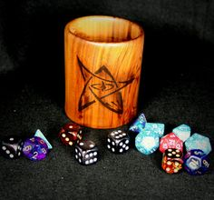 Your place to buy and sell all things handmade Wooden Dice, Eldritch Horror, Cupped Hands, Pencil Cup, Pens And Pencils, Gaming Accessories, Cthulhu, Custom Items, One Pic