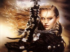 Luis Royo Art Images Story by Jezey on Photobucket Girl Background, Sunset Background, Background Images, Fantasy Warrior, Fantasy Girl, Dark Fantasy, Miguel Angel, Collections Photography, Trippy