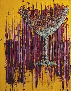 :: Afternoon Wine ::   Acrylic painting by Gale Storm    ...it's all about a good moment, eh?