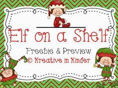 Kreative in Kinder: Elf on a Shelf Freebie!