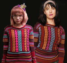Jim Drain sweater on Kathleen Hanna + Tavi