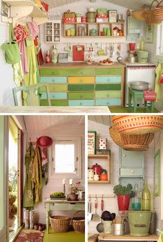 "A pinner said : ""OMG!! I want to make the inside of my garden shed look like this. I already have a drawer unit like this one!!"" I say, I just want a garden shed to start with."