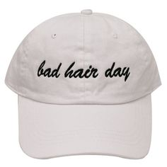 7f9e04ab550 Capsule Design Bad Hair Day Dad Cotton Baseball Cap in White