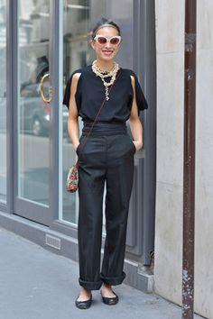 Fashion_Snap - 上品なリラックスコーデが満載! パリのガールスナップをお届け。
