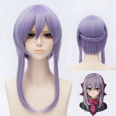 SHARE & Get it FREE   Trendy Silky Straight Medium Purple Side Bang Hiiragi Shinoa Cosplay Wig With BraidsFor Fashion Lovers only:80,000+ Items·FREE SHIPPING Join Dresslily: Get YOUR $50 NOW!