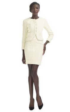 "The word ""chic"" is used often but this...this IS chic. Vintage Chanel skirt suit via Decades"