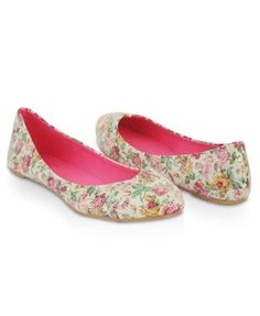 Sequined Floral Flats - StyleSays