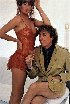 the woman in red, kelly lebrock and gene wilder, 1984 Kelly Lebrock, Beautiful Celebrities, Beautiful Actresses, Beautiful People, Stevie Wonder, Actrices Sexy, Actrices Hollywood, Classic Films, 80s Fashion
