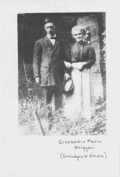 Giovanni and Maria Ghiggeri, grandparents of the SFERRA brothers