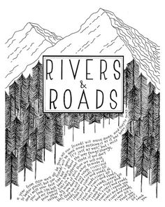 8x10 Rivers and Roads by Head and the Heart Folk by zoeprints