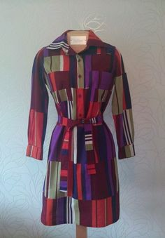 Colorful Marimekko Dress Vintage from 1973 100 Cotton Size 38 8 | eBay