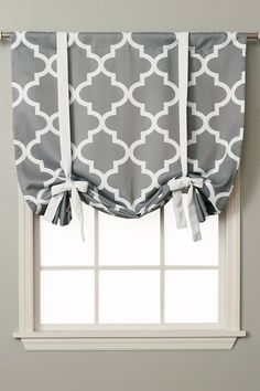 Moroccan Tile Printed Room Darkening Tie Up Shade - Grey on @HauteLook