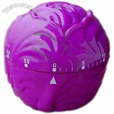 Purple Cabbage or Cauliflower Shaped Kitchen Timer Egg Timer, Purple Cabbage, Kitchen Timers, Food Tips, Kitchen Gadgets, Old And New, Cauliflower, Shapes, Unique